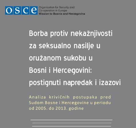 Borba protiv nekažnjivosti za seksualno nasilje u oružanom sukobu u Bosni i Hercegovini